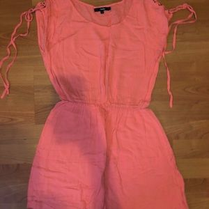 ⚡️SALE⚡️ Papaya Shoulder Lace-up  Dress